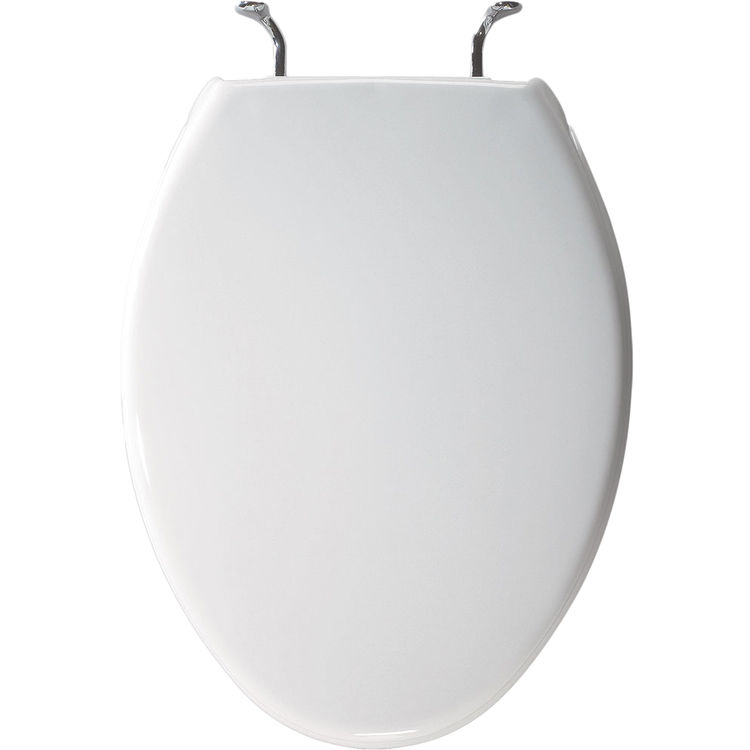 Bemis 1900CCP 000 White Closed Front Elongated Toilet Seat With Cover