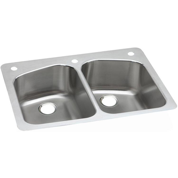 ... DPXSR233221 Dayton Stainless Steel Double Bowl Sink PlumbersStock