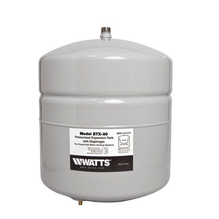 Watts et gallon potable water expansion tank