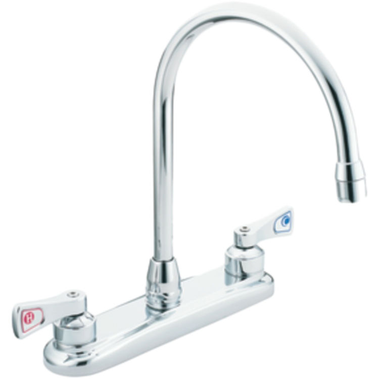 moen commercial 8287 two handle kitchen faucet plumbersstock moen commercial kitchen faucet chrome two handle hd supply
