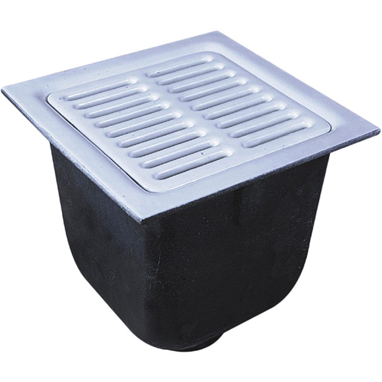 Watts fs 752 22 12 x 12 x 10 floor 2 drain sink white for 10 x 12 floor grate
