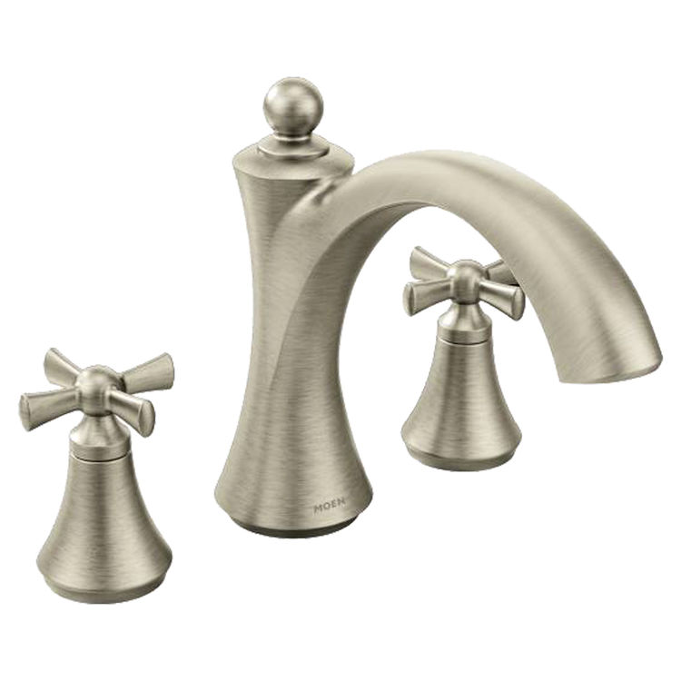 Moen T657BN Two-Handle Non-Diverter Roman Tub Faucet
