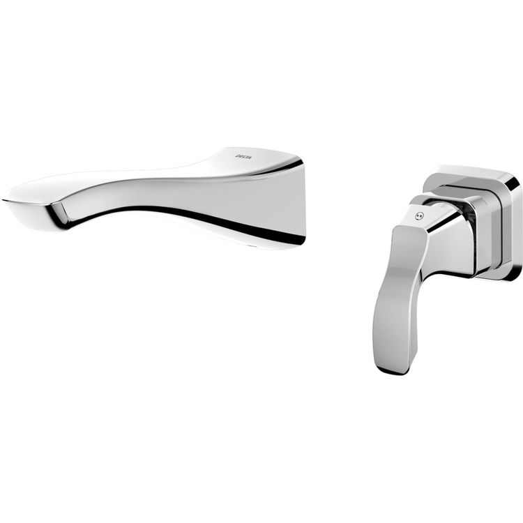 Delta T552lf Wl Chrome Single Handle Wall Mount Lavatory Faucet Plumbersstock