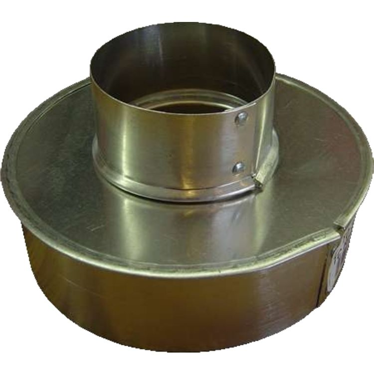 Single wall galvanized quot reducer