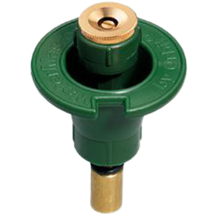 Orbit pop up sprinkler head with brass nozzle