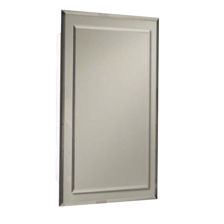 jensen 1450bc 16 39 39 x 26 39 39 white medicine cabinet with bevelled mirror. Black Bedroom Furniture Sets. Home Design Ideas