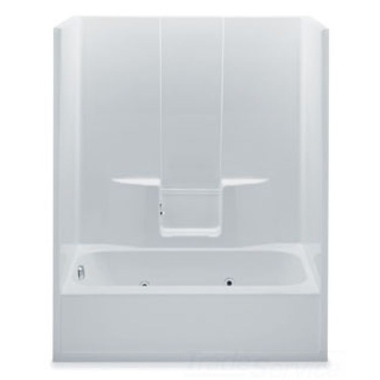 Aquatic Industries 6036SGL ST Sterling Silver 60 X35 X77 Tub