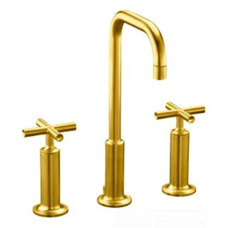 Kohler k 14408 3 bgd brushed gold purist lavatory faucet - Brushed gold bathroom faucets kohler ...