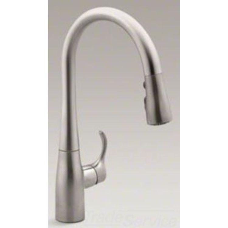 Kohler Simplice Kitchen Faucet Parts: Kohler K-597-VS Simplice Pulldown Secondary Faucet